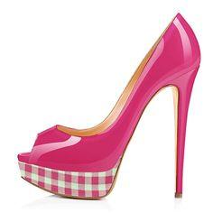 Onlymaker Women's Peep Toe Pumps Stiletto Court Shoes Slip On Platform High Heels Rose Red EU 35 Sexy High Heels, Platform High Heels, Peep Toe Pumps, Pumps Heels, Stiletto Heels, Pin Up Shoes, Me Too Shoes, Stilettos, Cute Heels