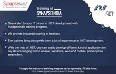 SynapseIndia Trainings: Be a part of top IT outsourcing solutions provider.  Take a look at: https://synapseindiatrainingsnoida.wordpress.com/2017/06/20/Make-your-career-in-.Net-Development
