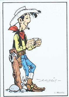 Lucky Luke est une série de bande dessinée franco-belge de western humoristique créée par Morris dans l'Almanach 1947, un hors-série du journal Spirou publié en 1946. Morris est aidé, à partir de la neuvième histoire, par plusieurs scénaristes, dont le plus fameux est René Goscinny