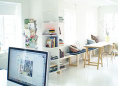 This is an art studio....wish mine looked this clean!!
