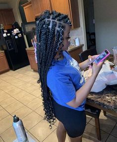 hairstyles prom updo hairstyles african american hairstyles for 8 year olds hairstyles game of thrones locs hairstyles to braid hairstyles step by step hairstyles 2018 black female braided hairstyles Braids With Curls, Braids Wig, Braids For Black Hair, Girls Braids, Loose Braids, Messy Braids, Black Girl Braided Hairstyles, African Braids Hairstyles, Weave Hairstyles