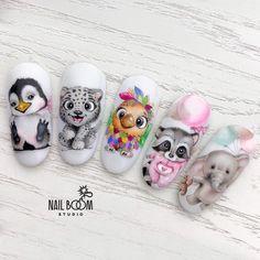 Pin on Nail Health Care Pin on Nail Health Care Animal Nail Designs, Animal Nail Art, Disney Acrylic Nails, Best Acrylic Nails, Cute Nail Art, Beautiful Nail Art, Stylish Nails, Trendy Nails, Nail Art Dessin