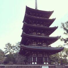 興福寺の五重塔ー 奈良  5-story pagoda at Koufukuji temple in Nara