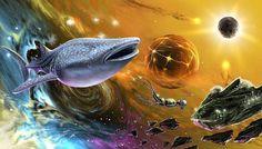 Intergalactic space whale