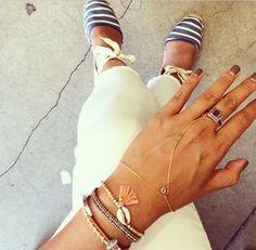 Beach-y bracelets by Chan Luu