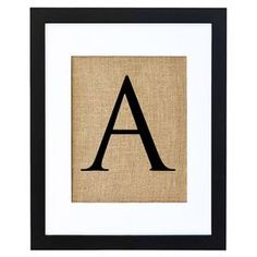 Personalized Letterpress Framed Print