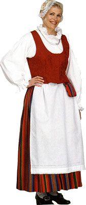 Hollolan naisen kansallispuku. Kuva © Helmi Vuorelma Oy