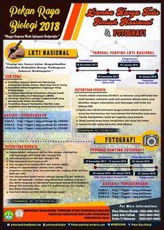 #Lomba #LKTI #Fotografi #UR #UniversitasRiau #Pekanbaru #PekanRayaBiologi Pekan Raya Biologi Universitas Riau 2018 LKTI dan Lomba Fotografi  DEADLINE: 30 Desember 2017 & 24 Januari 2018  http://infosayembara.com/info-lomba.php?judul=pekan-raya-biologi-universitas-riau-2018-lkti-dan-lomba-fotografi
