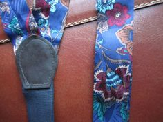 Mens Suspenders / Vintage Silk MENS SUSPENDERS / Vintage Mens Braces / Flora Pattern Paisley Suspenders