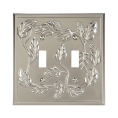 Amerelle Leaf 2 Toggle Wall Plate - Satin Nickel - 85TTN - The Home Depot