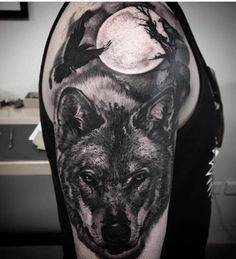 Black and grey realism wolf tattoo by Danny Truong -  Lighthouse Tattoo Sydney Australia    FOR BOOKINGS  w: lighthousetattoo.com.au  : contact@lighthousetattoo.com.au ☎️: (+61 2) 9316 4565