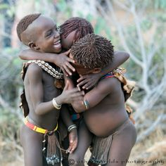 Africa | Hamer children playing. Omo Valley, Ethiopia. | ©Other Worlds Photography