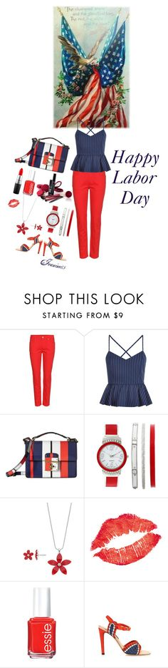 """""""Happy Labor Day!"""" by jeanine65 ❤ liked on Polyvore featuring Alexander McQueen, New Look, Dolce&Gabbana, Bare Escentuals, Essie, Chrissie Morris and MAC Cosmetics"""