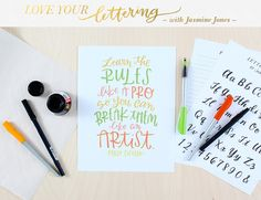 Love Your Lettering at @studio_calico