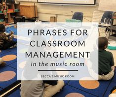 Phrases for Classroom Management in the Music Room. Check out what phrases I use in my elementary music classroom to keep the class in line-- literally! Preschool Music, Music Activities, Teaching Music, Teaching Orchestra, Music Games, Classroom Management Plan, Class Management, Behavior Management, General Music Classroom