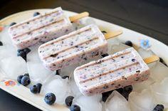 Eis am Stiel: Heidelbeer +Oreo-Kekse