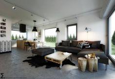 Salones escandinavos de ELEMENTY - Pracownia Architektury Wnętrz