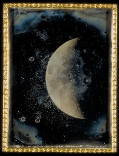 View of the Moon, 1852 (Daguerreotype) by John Adams Whipple. John Adams Whipple (September 1822 – was an American inventor and early photographer. Louis Daguerre, Look At The Moon, Over The Moon, John Adams, Sun And Stars, To Infinity And Beyond, Moon Art, Moon Child, Astronomy