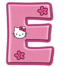 Monogram Letters Alphabet Letter E Hello Kitty Pictures Party Color Rosa Printable Labels Sanrio Kenya