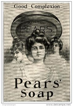 Original - Anzeige / Advertise 1903 : (ENGLISH) PEARS' SOAP - 125 x 185 mm