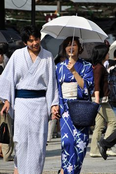 Japanese couple in yukata