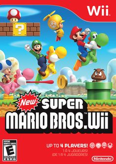 New Super Mario Bros. Wii - - New Super Mario Bros. Wii Developers at Nintendo have dreamed of creating a simultaneous multiplayer Super Mario Bros. game for decades. The Wii console finally Kirby Nintendo, Super Nintendo, Super Mario Bros Wii, Super Mario Brothers, Mario Wii, Xbox 360, Playstation, Yoshi, Wii Games