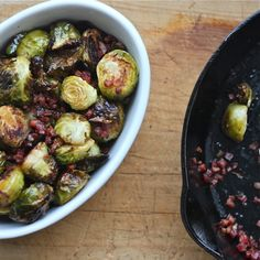 Maple Roasted Brussels Sprouts Bowl & Pan // Say Yes to Hoboken