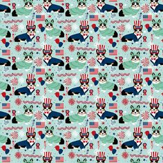Americana Corgi Fabric - Corgi July Fabric Tricolored Usa Independence Day By Petfriendly - Cotton Fabric by the Yard with Spoonflower Double Gauze Fabric, Cotton Twill Fabric, Fleece Fabric, Satin Fabric, Cotton Canvas, Corgi Wallpaper, Patriotic Wallpaper, Textile Manufacturing, Ink Water