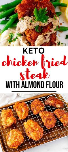 This easy Keto Chicken Fried Steak with Almond Flour is easily my favorite Southern keto recipe that I've ever made. It is so crispy and flavor-packed (plus simple to make!). Make this one for your next family dinner, and you will have a glow of satisfaction that comes from serving something that everyone loves. #kickingcarbs #keto #lowcarb #Ketocomfortfood