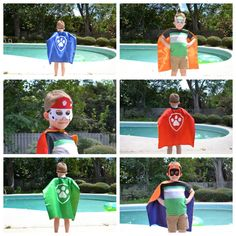 Paw Patrol Characters  Choice of: Marshall - Red Cape Zuma - Orange Cape Chase - Blue Cape Rubble - Yellow Cape Skye - Pink Cape Rocky - Green Cape Everest - Teal Cape   Your little one will love to be a superhero, our capes are easy to take on an off in seconds with Velcro. They can transform into his/her favorite superhero in seconds. An additional feature available is to add your childs name to the back of the cape.  Our Capes - Are made from satin and the image is vinyl material. The...