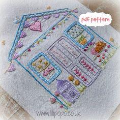 My wonky shed embroidery pattern pdf von LiliPopo auf Etsy