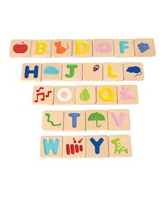 Another great find on #zulily! Alphabet Tile Set by PlanToys #zulilyfinds