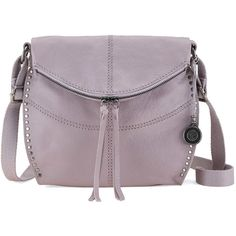 The Sak Women's Silverlake Crossbody (185 CAD) ❤ liked on Polyvore featuring bags, handbags, shoulder bags, lilac, leather shoulder bag, leather crossbody purse, purple purse, crossbody handbags and purple leather shoulder bag