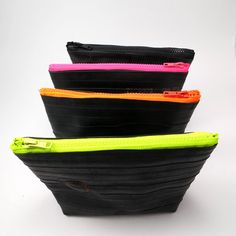 Recycled bicycle inner tube cosmetic bag top quality. by palepink, kr245.00