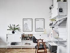 15 ways to use String Furniture in your home – Crioll Designshop String shelving system living room Eindhoven modern design furniture nils strinning, shelf, scandinavian design Scandinavian Interior Design, Scandinavian Home, Stylish Interior, Vintage Home Offices, Gravity Home, Swedish House, Home Office Decor, Home Decor, Office Ideas