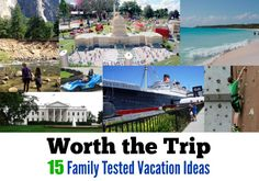 Worth the Trip: 15 Family Tested Vacation Ideas   ***  Thank you for following Delta Closets on Pinterest  |  http://www.deltaclosets.ca