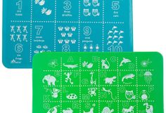 Educational ABC placemats for kids. Silicone wipes clean.