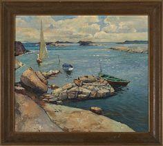 THOMAS FRANG KRISTIANIA 1889 - D.SST. 1968  Sommeridyll Olje på lerret, 59x66 cm Signert nede til venstre: Frang