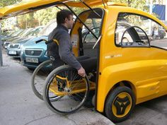 Electric car for disabled people.