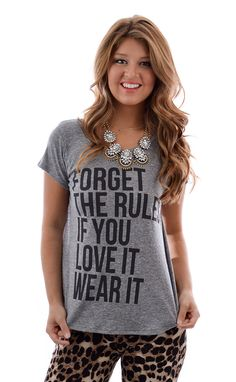 Forget the Rules Tee shopbelleboutique.com