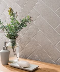 Information about Touchline™ Silver Tile Brick Bonds, Coloured Grout, Topps Tiles, Downstairs Toilet, Rustic Feel, Grey And White, Tile Floor, Interior Decorating, Sweet Home