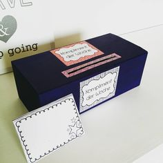 Komplimentebox. Upcycling eines alten Schuhkartons! Danke #materialwiese für…