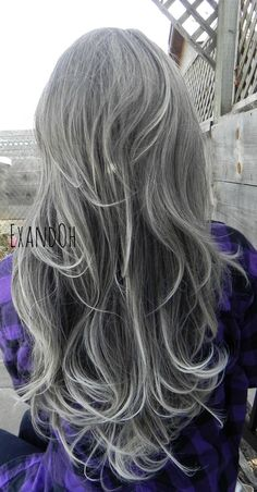 ON SALE // Lace Front Wig Natural Grey Hair Grey and by ExandOh