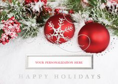 Warm Tidings Die Cut Christmas Greeting Card - Advanced Printing & Graphic Solutions