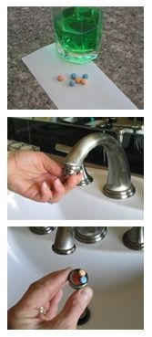 Leprechaun visit.  How to make the faucet water green on St. Patrick's Day.