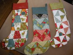 Quilted Christmas Stocking Patterns | also started working on this chevron quilt. I had a lot of yellows ...