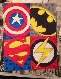 Original Canvas Comic/Superhero Art by CanvasArtHeart on Etsy, $15.00