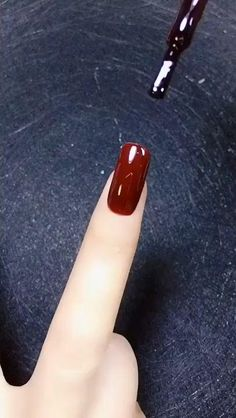 Nail Art Designs Videos, Nail Art Videos, Simple Nail Art Designs, Acrylic Nail Designs, Acrylic Nails, Red Nail Designs, Nail Art Hacks, Nail Art Diy, Easy Nail Art