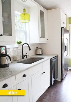 Rhoda of the blog Southern Hospitality has never been shy about talking about money. So, it only made sense that when she posted the photos of her IKEA kitchen renovation she'd include a full cost breakdown of what it took to update the kitchen's country style into a more transitional design. Check out what her kitchen looks like now, and how she did it for $8,700.