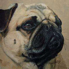 Pretty Pug by Anne Zoutsos -- Anne Zoutsos